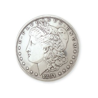 Morgan Dollar Concho Kopf 38 mm
