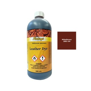 Fiebings Leather Dye - Mittelbraun - 946 ml