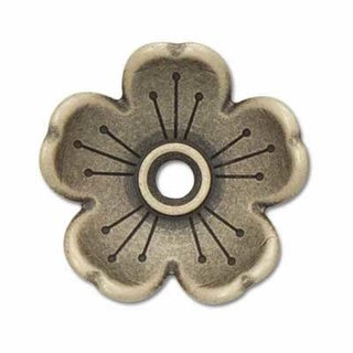 Blumenkranz Concho - 16mm - Antik Messing Finish